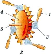 Схема паровой турбины
