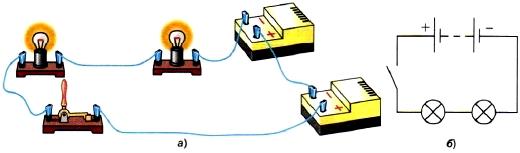 Схема последовательного соединения проводников фото 925